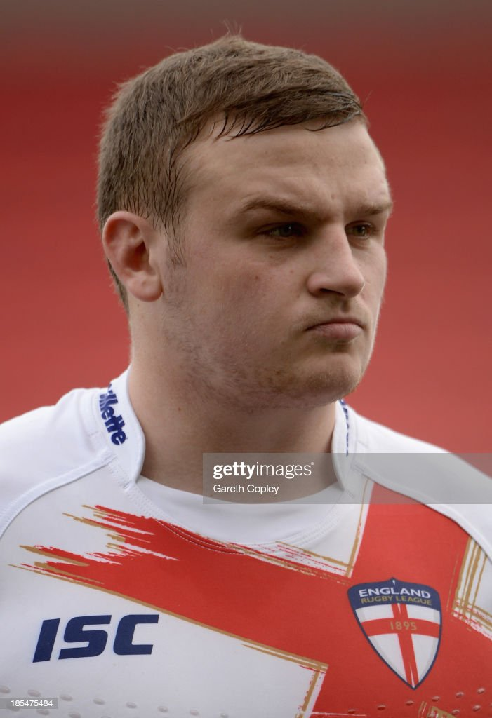 Brad Singleton of England Knights ahead of the International match between England Knights and Samoa at Salford City Stadium on October 19, 2013 in Salford, England.