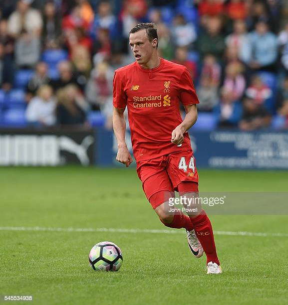 Brad Smith of Liverpool during a PreSeason Friendly match between Tranmere Rovers and Liverpool at Prenton Park on July 8 2016 in Birkenhead England