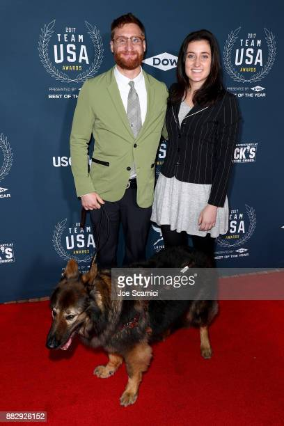Brad Snyder and guest attend the 2017 Team USA Awards on November 29 2017 in Westwood California