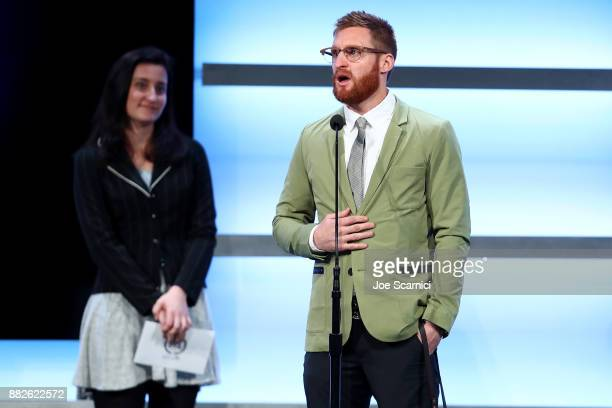 Brad Snyder is seen on stage during the 2017 Team USA Awards on November 29 2017 in Westwood California