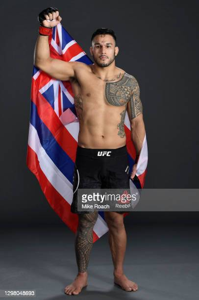 Brad Tavares poses for a portrait after his victory during the UFC 257 event inside Etihad Arena on UFC Fight Island on January 23, 2021 in Abu...