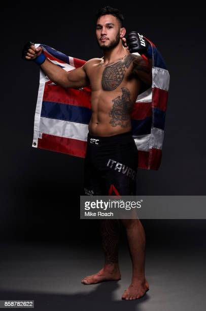 Brad Tavares poses for a portrait backstage after his victory over Thales Leites during the UFC 216 event inside TMobile Arena on October 7, 2017 in...