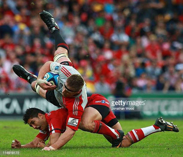 Sam Whitelock Breaks A Tackle: Brad Thorn Stock Photos And Pictures