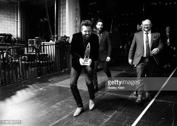 Brad Tursi and Matthew Ramsey backstage during the 53rd Annual CMA Awards at Bridgestone Arena on November 13 2019 in Nashville Tennessee