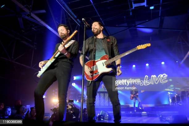 Brad Tursi and Matthew Ramsey of musical group Old Dominion perform onstage during Pandora Live at Marathon Music Works on November 25 2019 in...