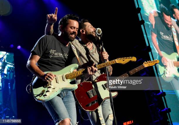 Brad Tursi and Matthew Ramsey of Old Dominion perform onstage during the 2019 Stagecoach Festival at Empire Polo Field on April 28 2019 in Indio...
