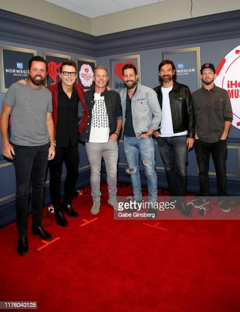 Brad Tursi Bobby Bones Trevor Rosen Matthew Ramsey Geoff Sprung Whit Sellers attend the 2019 iHeartRadio Music Festival at TMobile Arena on September...