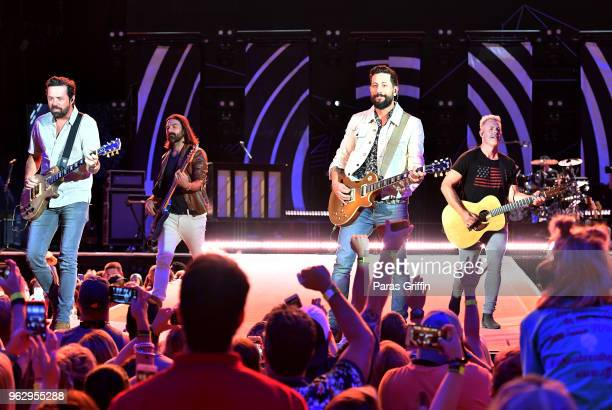 Brad Tursi Geoff Spring Matthew Ramsey and Trevor Rosen of Old Dominion perform in concert at MercedesBenz Stadium on May 26 2018 in Atlanta Georgia