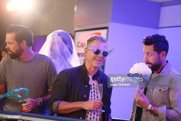 Brad Tursi Geoff Sprung Trevor Rosen and Matthew Ramsey of Old Dominion attend the 2019 iHeartRadio Music Festival at TMobile Arena on September 20...