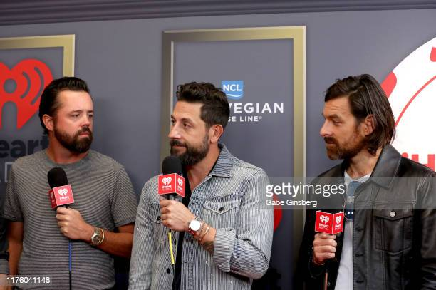 Brad Tursi Matthew Ramsey and Geoff Sprung of Old Dominion attends the 2019 iHeartRadio Music Festival at TMobile Arena on September 20 2019 in Las...