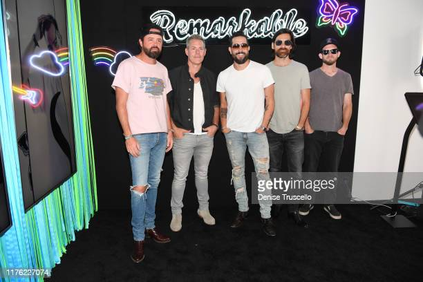 Brad Tursi Trevor Rosen Matthew Ramsey Geoff Sprung and Whit Sellers attend the Daytime Stage at the 2019 iHeartRadio Music Festival held at the Las...