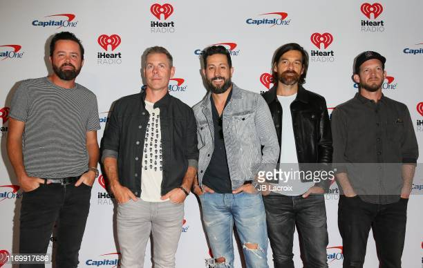 Brad Tursi Trevor Rosen Matthew Ramsey Geoff Sprung Whit Sellers of Old Dominion attend the 2019 iHeartRadio Music Festival at TMobile Arena on...