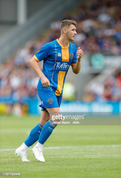 Brad Walker of Shrewsbury Town during the PreSeason Friendly match between Shrewsbury Town and Aston Villa at Montgomery Waters Meadow on July 21...