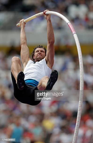 Brad Walker of the United States competes in the Men's Pole Vault during day two of the Sainsbury's Anniversary Games IAAF Diamond League 2013 at The...