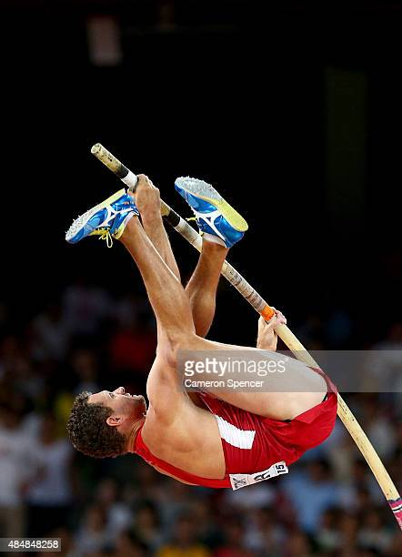 Brad Walker of the United States competes in the Men's Pole Vault qualification during day one of the 15th IAAF World Athletics Championships Beijing...