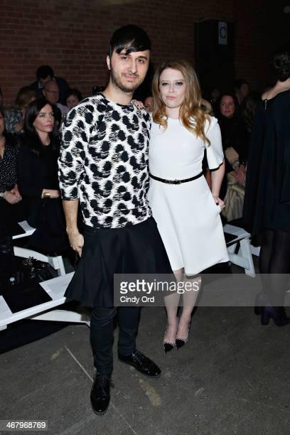 Brad Walsh and actress Natasha Lyonne attend the Christian Siriano fashion show during MercedesBenz Fashion Week Fall 2014 at Eyebeam on February 8...