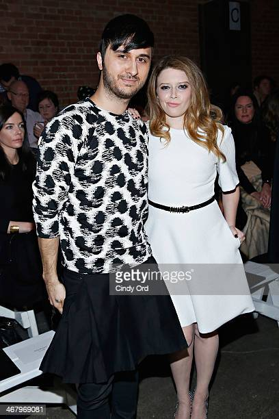 Brad Walsh and actress Natasha Lyonne attend the Christian Siriano fashion show during MercedesBenz Fashion Week Fall 2014 at Eyebeam on February 8...