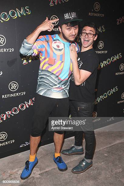 Brad Walsh and Christian Siriano attend Refinery29's Second Annual New York Fashion Week Event '29Rooms' on September 8 2016 in Brooklyn New York