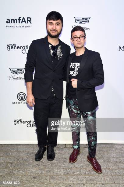 Brad Walsh and Christian Siriano attend the amfAR generationCURE Solstice 2017 at Mr Purple on June 20 2017 in New York City