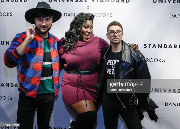 Brad Walsh Danielle Brooks and Christian Siriano attend the Tria Collection launch party on November 14 2017 in New York City