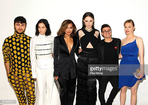 Brad Walsh Leigh Lezark Naya Rivera Coco Rocha Christian Siriano and Thora Birch pose backstage at the Christian Siriano Fall 2016 fashion show...
