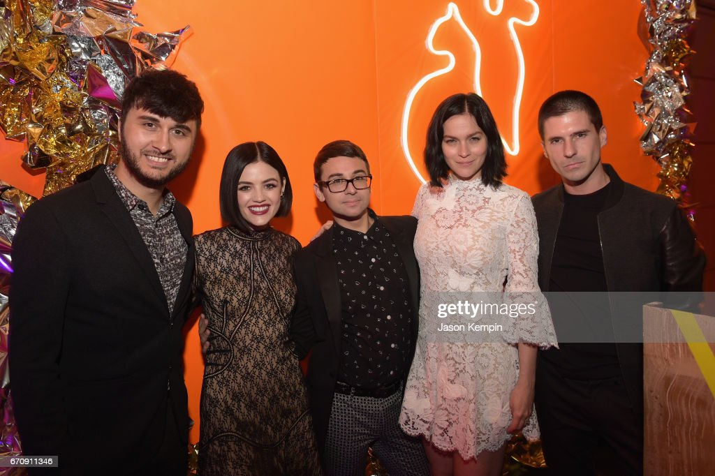 Brad Walsh, Lucy Hale, Christian Siriano, Leigh Lezark, and Geordon Nicol attend the ASPCA After Dark cocktail party hosted by Lucy Hale at The Plaza Hotel on April 20, 2017 in New York City.