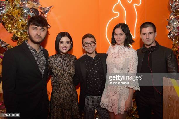 Brad Walsh Lucy Hale Christian Siriano Leigh Lezark and Geordon Nicol attend the ASPCA After Dark cocktail party hosted by Lucy Hale at The Plaza...