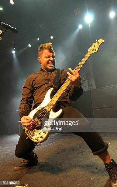 Brad Walst of Three Days Grace performs at The Forum on January 15, 2016 in London, England.