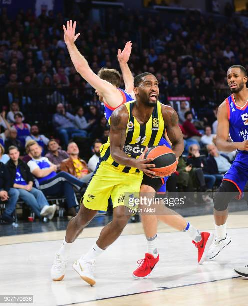 Brad Wanamaker #11 of Fenerbahce Dogus Istanbul in action during the 2017/2018 Turkish Airlines EuroLeague Regular Season Round 19 game between...