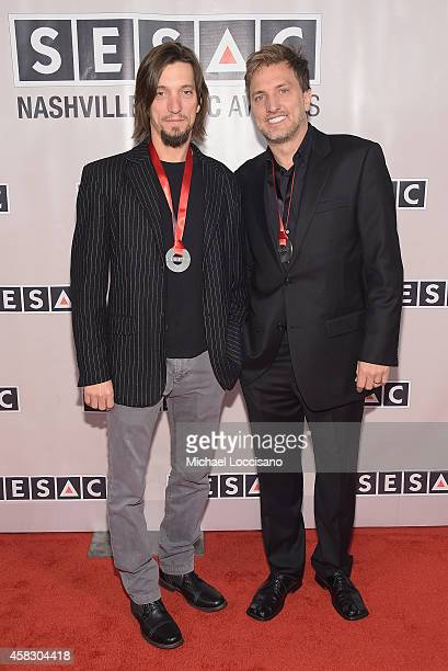 Brad Warren and Bret Warren of the Warren Brothers attend the SESAC 2014 Nashville Music Awards at Country Music Hall of Fame and Museum on November...