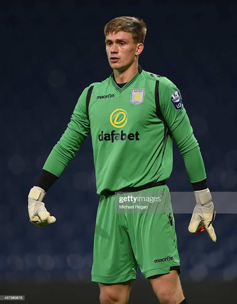 Brad Watkins of Villa looks on during the Barclays U21 Premier League match between West Bromwich Albion and Manchester United at The Hawthorns on October 16, 2014 in West Bromwich, England.