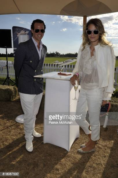 Brad Waywell and Isabelle Escher attend Avantair Polo Star Hosts 1st Annual Sunday Classic with Nacho Figueras Benefiting WORK TO RIDE at Two Trees...