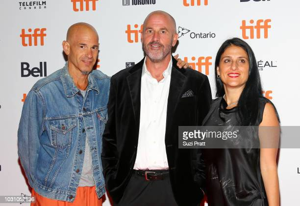 Brad Weston James Frey and Pamela Abdy attend the 'A Million Little Pieces' premiere during 2018 Toronto International Film Festival at Ryerson...