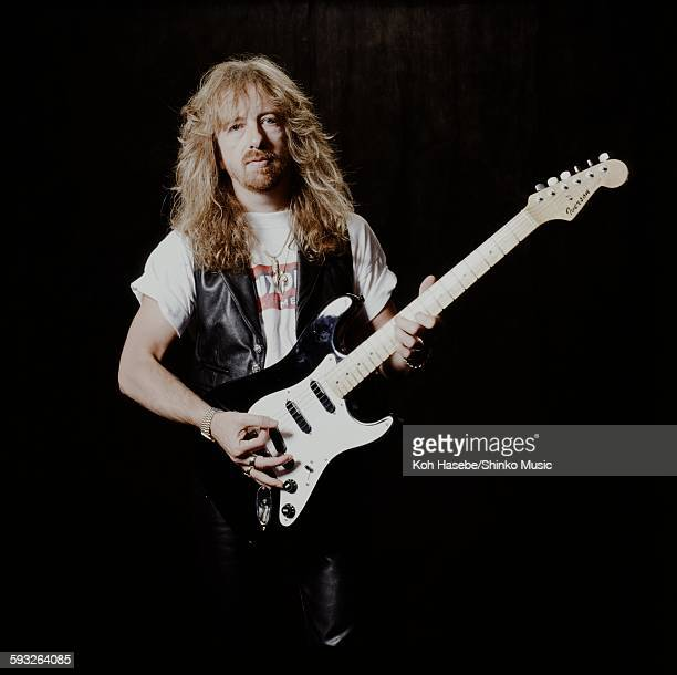 Brad Whitford Aerosmith in photo session at a hotel Tokyo September 19 1990