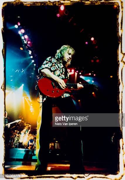 Brad Whitford Aerosmith performing on stage Ahoy Rotterdam Netherlands 27th May 1997