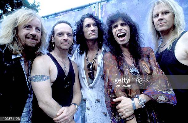 Brad Whitford Joey Kramer Joe Perry Steve Tyler and Tom Hamilton of Aerosmith