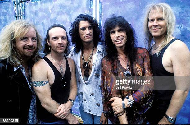 Brad Whitford, Joey Kramer, Joe Perry, Steve Tyler and Tom Hamilton of Aerosmith