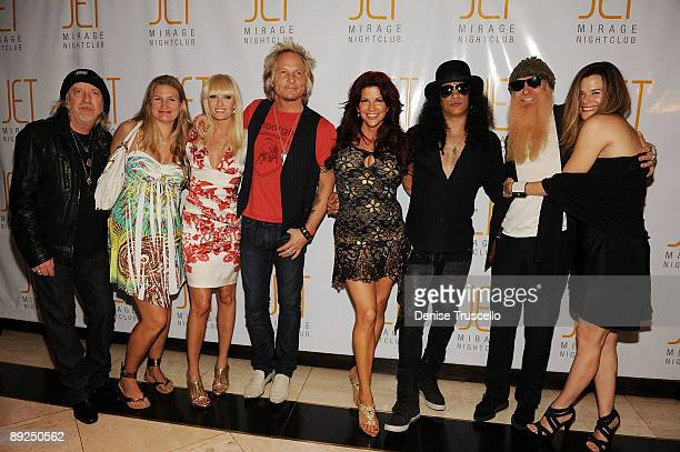 Brad Whitford, Kimberly Whitford, Ace Harper, Matt Sorum, Perla Hudson, Slash, Billy Gibbons and Gilligan Stillwater arrives at Jet Nightclub at The...