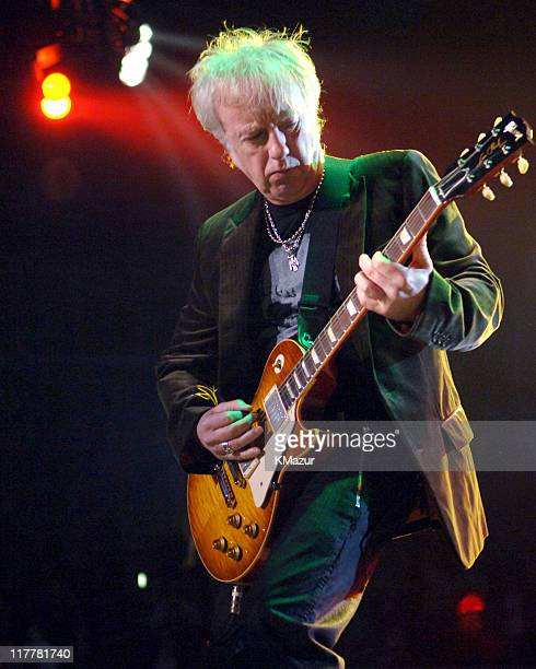 Brad Whitford of Aerosmith during Aerosmith in Concert at Staples Center in Los Angeles February 22 2006 at Staples Center in Los Angeles California...