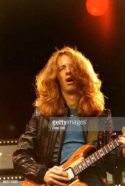 Brad Whitford of Aerosmith performs on stage on Day 2 of The Reading Festival on August 27th 1977 in Reading United Kingdom