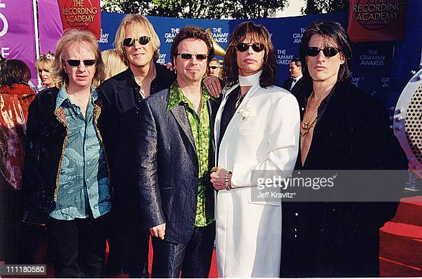 Brad Whitford Tom Hamilton Joey Kramer Steven Tyler and Joe Perry of Aerosmith