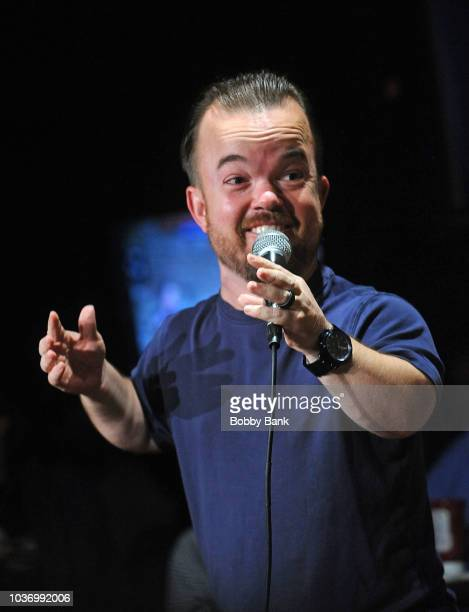Vinnie Brand and Brad Williams at The Stress Factory Comedy Club on September 20 2018 in New Brunswick New Jersey