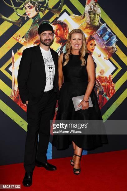 Brad Winderbaum and Kylie WatsoneWheeler arrives for the Australian Premiere of Thor Ragnarok on October 13 2017 in Gold Coast Australia