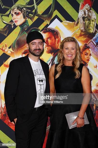 Brad Winderbaum and Kylie WatsonWheeler arrives for the Australian Premiere of Thor Ragnarok on October 13 2017 in Gold Coast Australia