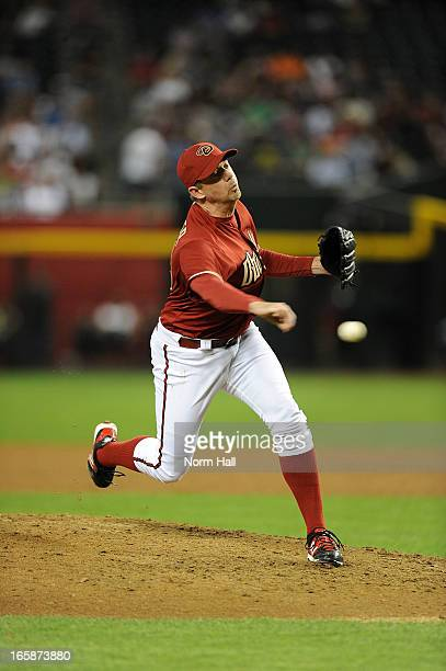 Brad Ziegler of the Arizona Diamondbacks delivers a pitch against the St Louis Cardinals at Chase Field on April 3 2013 in Phoenix Arizona