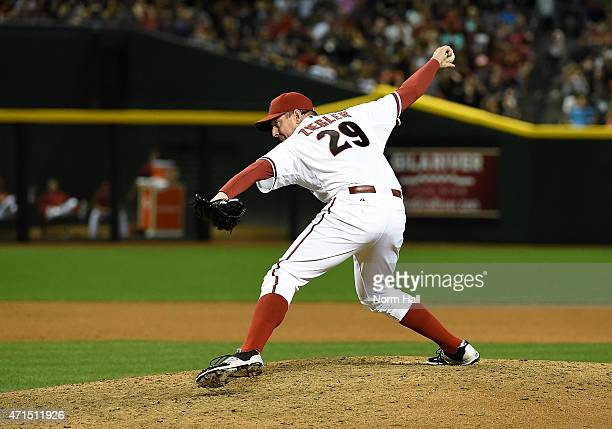 Brad Ziegler of the Arizona Diamondbacks delivers a pitch against the Pittsburgh Pirates at Chase Field on April 24 2015 in Phoenix Arizona