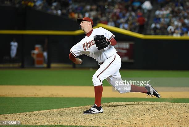 Brad Ziegler of the Arizona Diamondbacks delivers a pitch against the Chicago Cubs at Chase Field on May 22 2015 in Phoenix Arizona