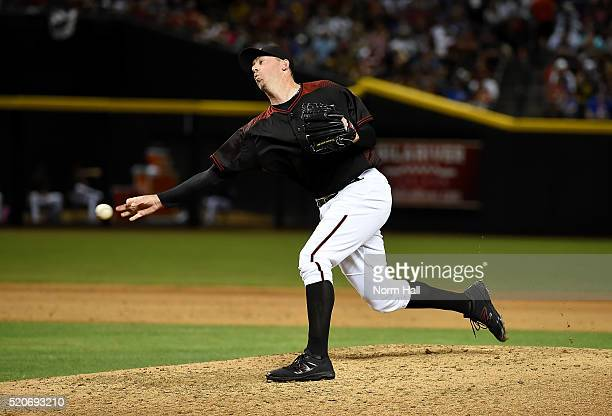 Brad Ziegler of the Arizona Diamondbacks delivers a pitch against the Chicago Cubs at Chase Field on April 9 2016 in Phoenix Arizona