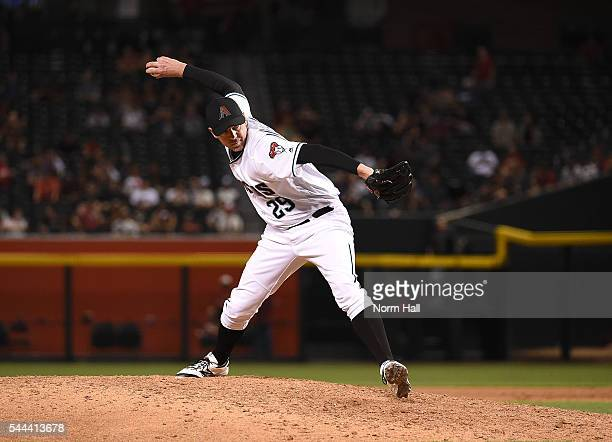 Brad Ziegler of the Arizona Diamondbacks delivers a pitch against the Philadelphia Phillies at Chase Field on June 28 2016 in Phoenix Arizona