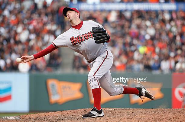 Brad Ziegler of the Arizona Diamondbacks pitches against the San Francisco Giants in the ninth inning at ATT Park on June 13 2015 in San Francisco...